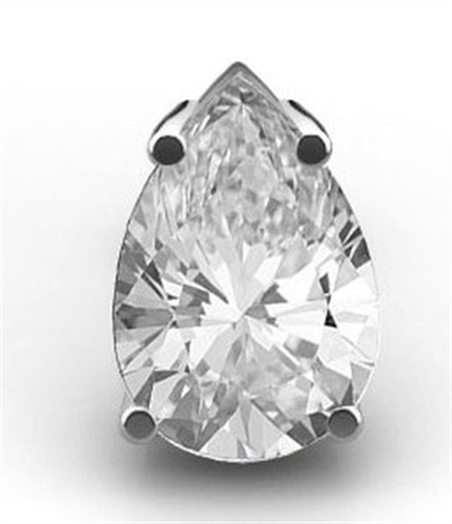 Solitaire Pear Shaped Diamond Studs