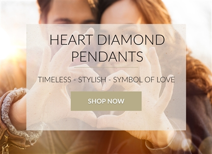 Heart Diamond Pendants