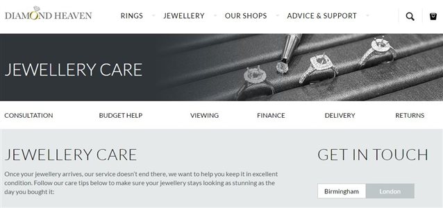Image for Check Out Our New Jewellery Care Page