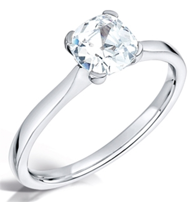 Modern Cushion Diamond Engagement Ring DHMTSS928 Image