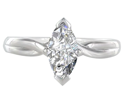 Marquise Diamond Infinity Twist Engagement Ring DHDOMR11209 Image