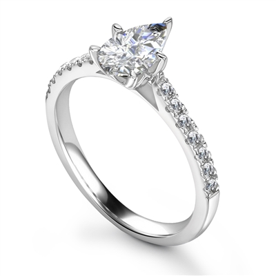 Pear Diamond Shoulder Set Ring DHRX7700 Image