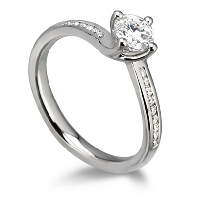 Shoulder Set Diamond Engagement Ring DHDOMDSR15 Image