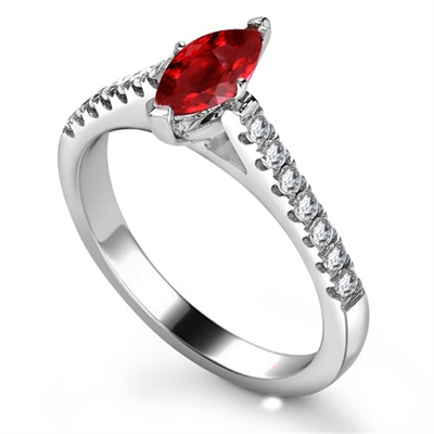 Ruby & Diamond Shoulder Set Ring DHRX6473RYC Image