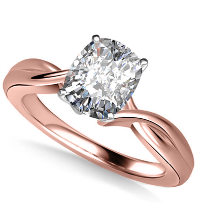 Modern Intertwined Cushion Diamond Engagement Ring DHAN516CU Image