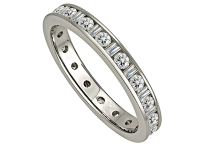 3.5mm Classic Baguette Diamond Full Eternity Ring DHJXE01045FETCRDBG Image