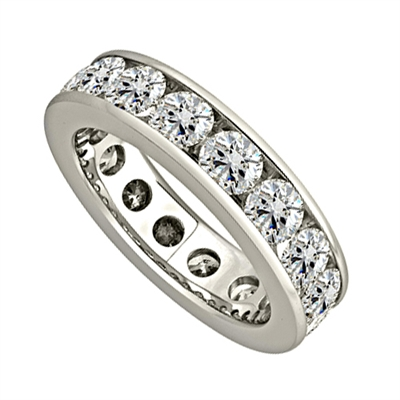 2.00ct Elegant Round Diamond Full Eternity Ring DHJXE01017FETCRND Image