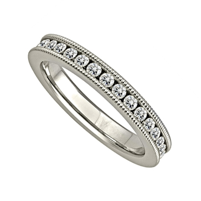 2.50CT Milgrain Elegant Round Diamond Full Eternity Ring DHJXE01438WDFETCRDM Image