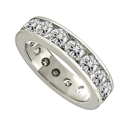 4.00CT Elegant Round Diamond Full Eternity Ring DHJXE01399FETCRND Image