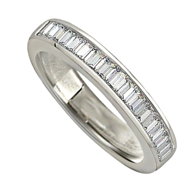1.00ct Elegant Baguette Diamond Eternity Ring DHJXMAN043WDHETCBAG Image
