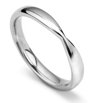 2.5mm Shaped Wedding Ring DHWS3725 Image