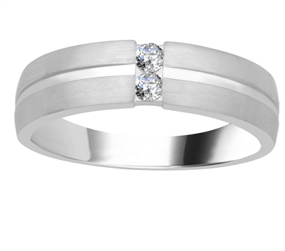 6mm Mens Round Diamond Ring DHJXM06587GNTS Image