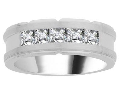 8mm Mens Round Diamond Ring DHJXM07014GNTS Image
