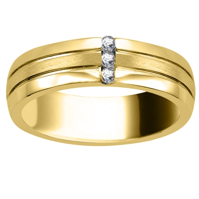 6.5mm Mens Round Diamond Ring DHJXM00629GNTS Image