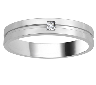 4mm Mens Princess Diamond Ring DHJXM03351GNTS Image