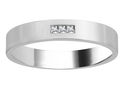 4mm Mens Princess Diamond Ring DHJXM03352GNTS Image