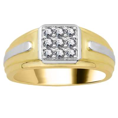 4mm Mens Round Diamond Ring DHJXAIL122GNTS Image