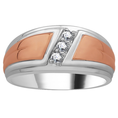 4mm Mens Round Diamond Ring DHJXPPD2451GNTS Image