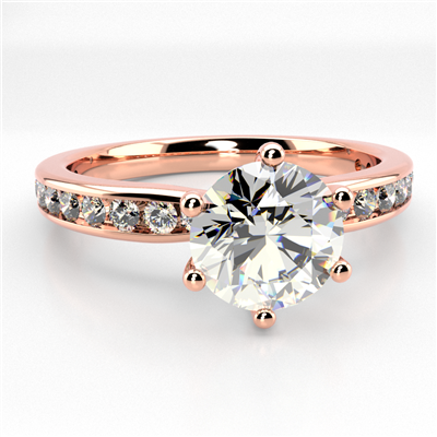 Shoulder Set Diamond Engagement Ring DHMTSS876 Image