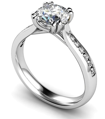 Shoulder Set Diamond Engagement Ring DHMTSS884R Image