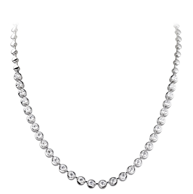 Elegant Round Diamond Drop Necklace DHDOMHN0067 Image