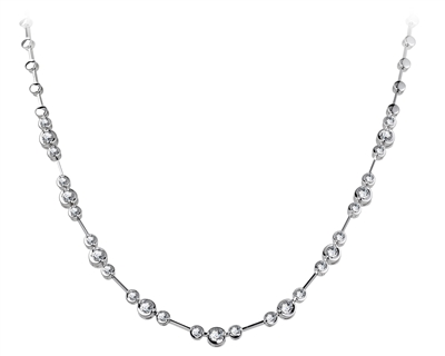 Elegant Round Diamond Necklace DHDOMWTN010 Image
