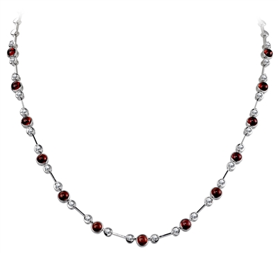 Round Diamond & Ruby Necklace DHDOMHSN1028RU Image