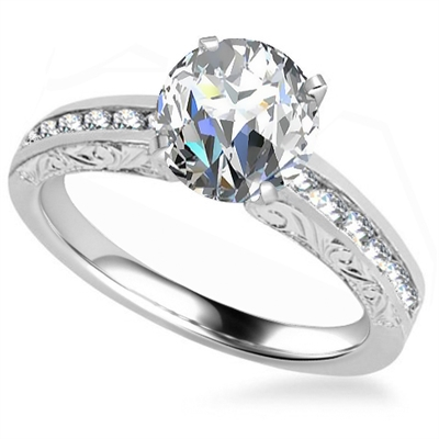 Round Diamond Vintage Ring DHAN550 Image