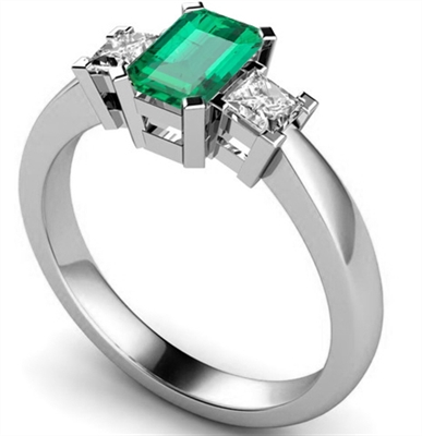 Emerald & Diamond Trilogy Ring DHMT03203EMC Image