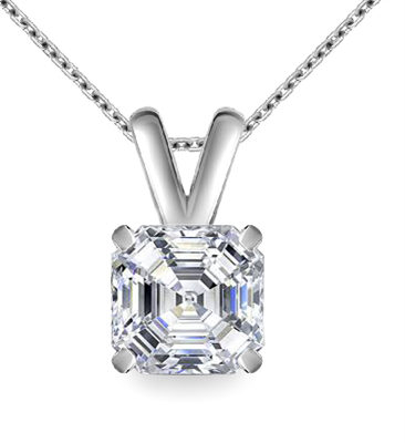 Modern Asscher Diamond Solitaire Pendant DHAN615AS Image