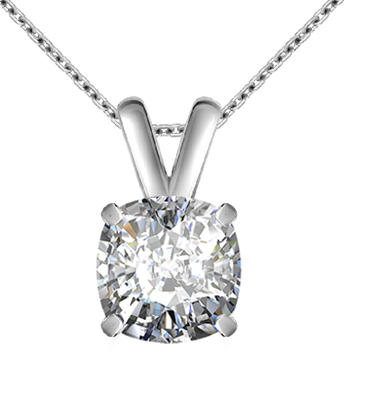Modern Cushion Diamond Solitaire Pendant DHAN615CU Image