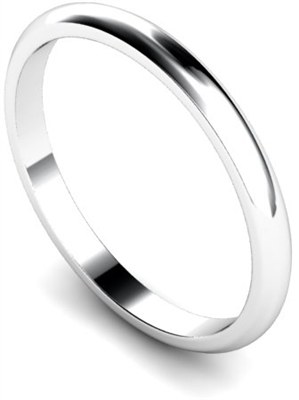 2mm D Shape Wedding Rings DHWDL2 Image