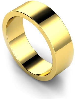 7mm Flat Wedding Ring DHWAL7 Image