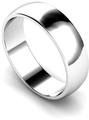 6mm D Shape Wedding Ring DHWDL6 Image