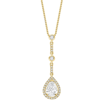 Pear Diamond Single Halo Pendant DHPX6232 Image