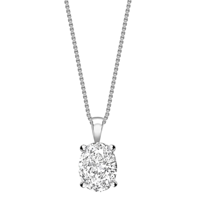Modern Oval Diamond Solitaire Pendant DHPX8735 Image