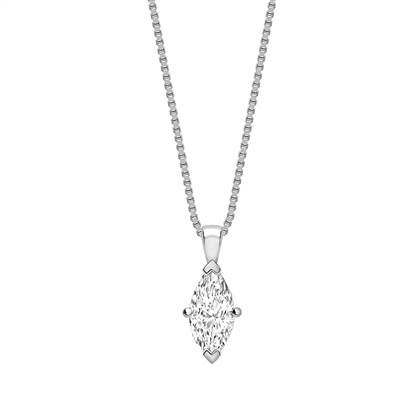 Classic Marquise Diamond Solitaire Pendant DHPX8739 Image