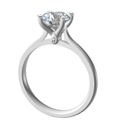 Elegant Round Diamond Engagement Ring DHDOMR11147 Image