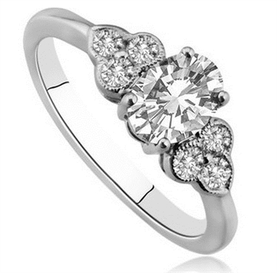 Oval Diamond Designer Ring DHDOMDSO2 Image