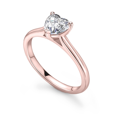Classic Heart Diamond Engagement Ring DHRX7413 Image
