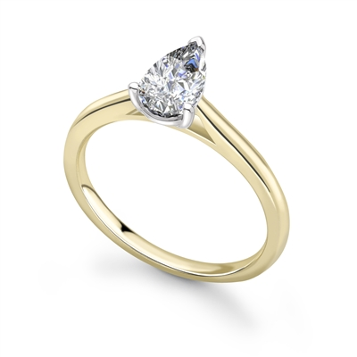 Classic Pear Diamond Engagement Ring DHRX7414 Image