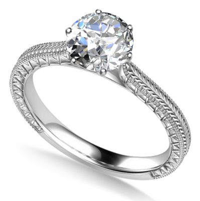 0.50ct SI1/D Diamond Solitaire Ring DHAN703/SDFN25GLAS Image