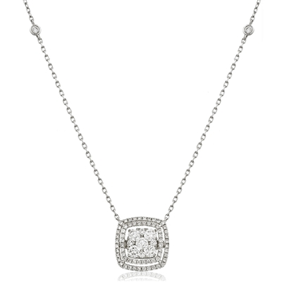 Movable Round Diamond Designer Necklace DHLMJDNN0213 Image