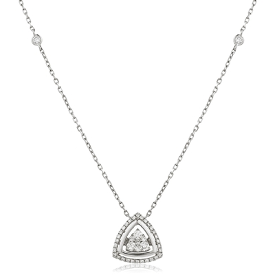 Movable Round Diamond Designer Necklace DHLMJDNN0222 Image
