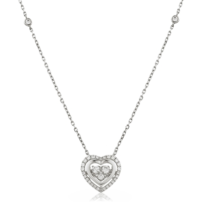 Movable Round Diamond Designer Necklace DHLMJDNN0223 Image