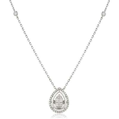 Movable Round Diamond Designer Necklace DHLMJDNN0224 Image