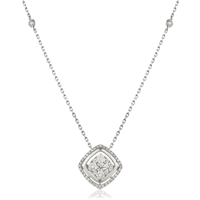 Movable Round Diamond Designer Necklace DHLMJDNN0229 Image
