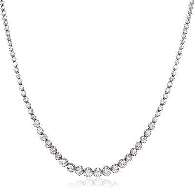 Round Diamond Tennis Necklace DHLMJXYN0359 Image