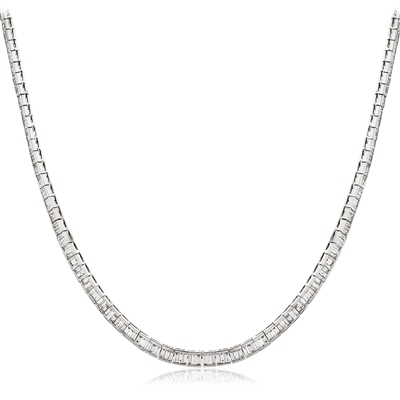 Channel Set Baguette Diamond Tennis Necklace DHLMJSN1269 Image