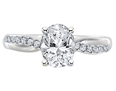 Infinity Oval & Round Diamond Engagement Ring DHDOMR11218OV Image